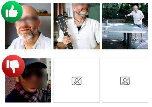 gutes und schlechtes profilbild