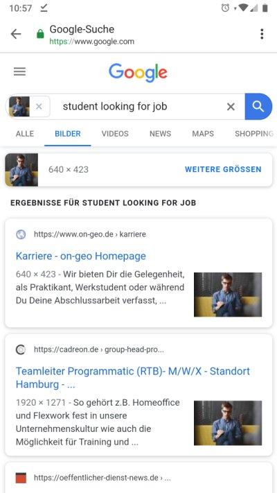 Google Fake bilder mobil erkennen