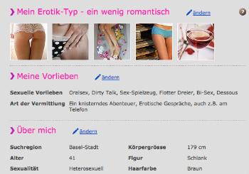 Erovie.ch Profil erstellen
