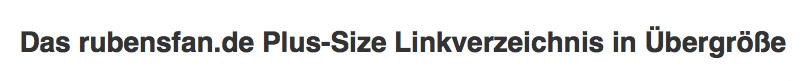rubensfan.de Plus-Size Linkliste