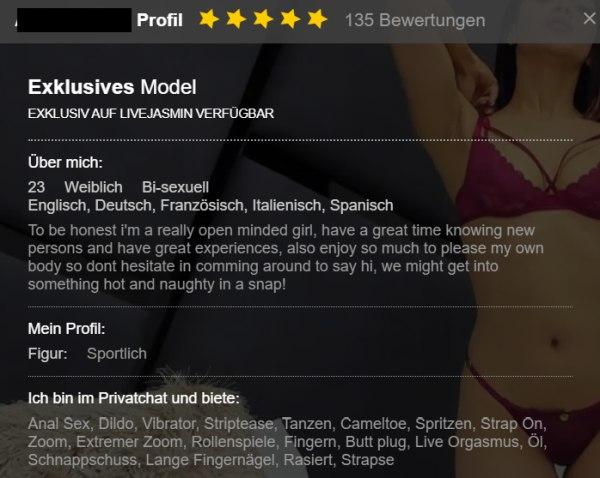 Profil Webcamchat LiveJasmin