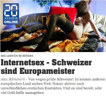 Internetsex - Schweizer sind Europameister