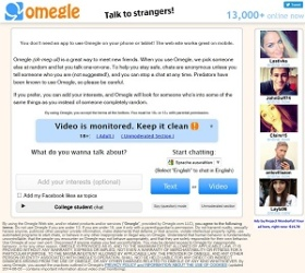 Omegle.com screenshot